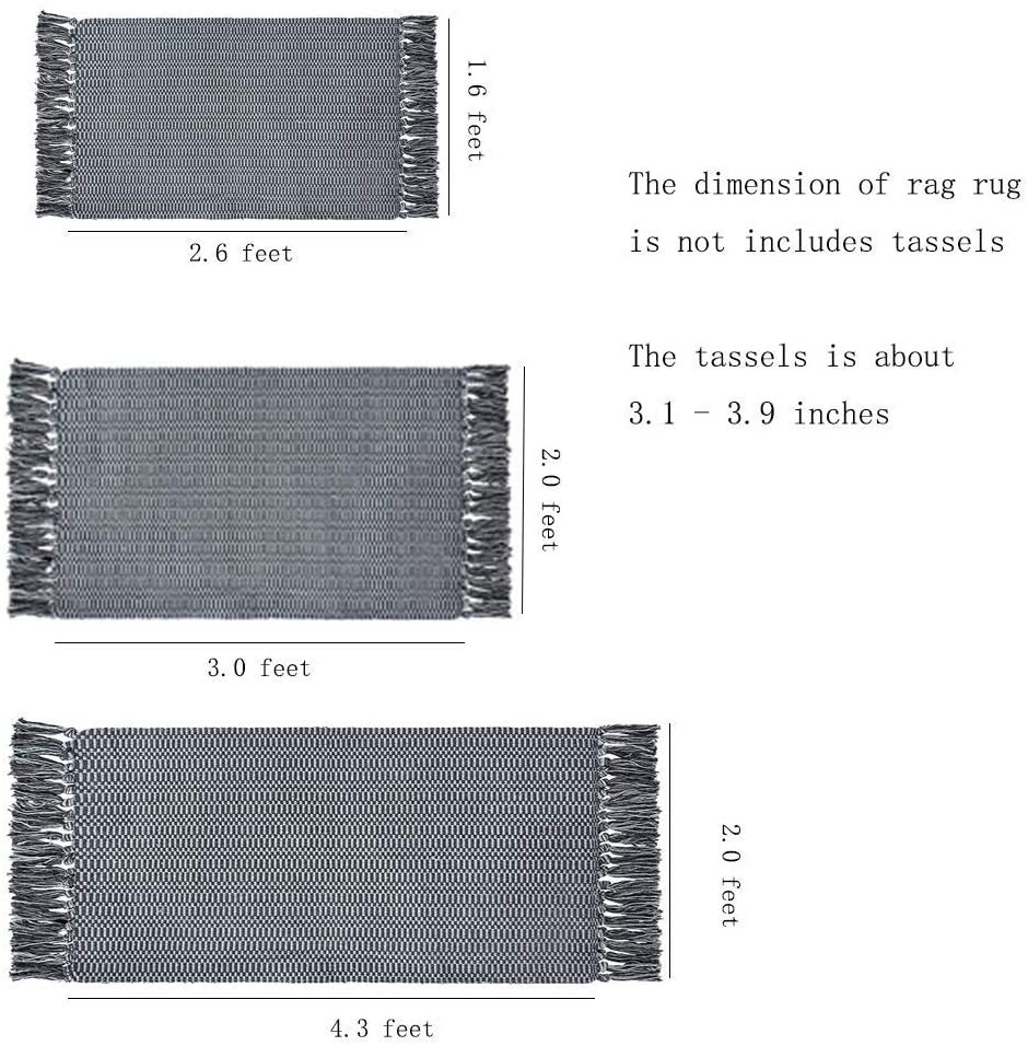 Idee-Home Light Gray Cotton Rug