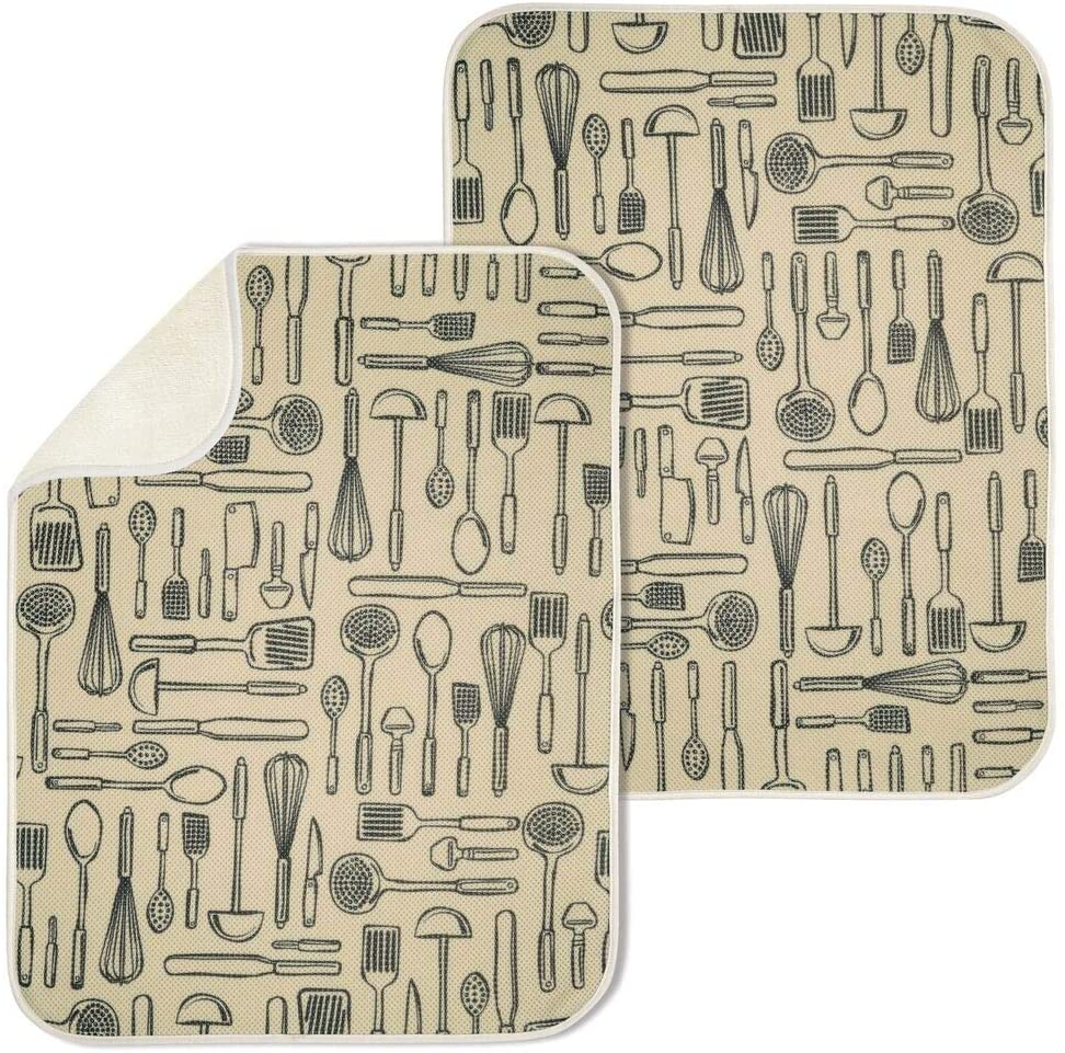 mDesign Reversible Microfiber Dish Drying Mat