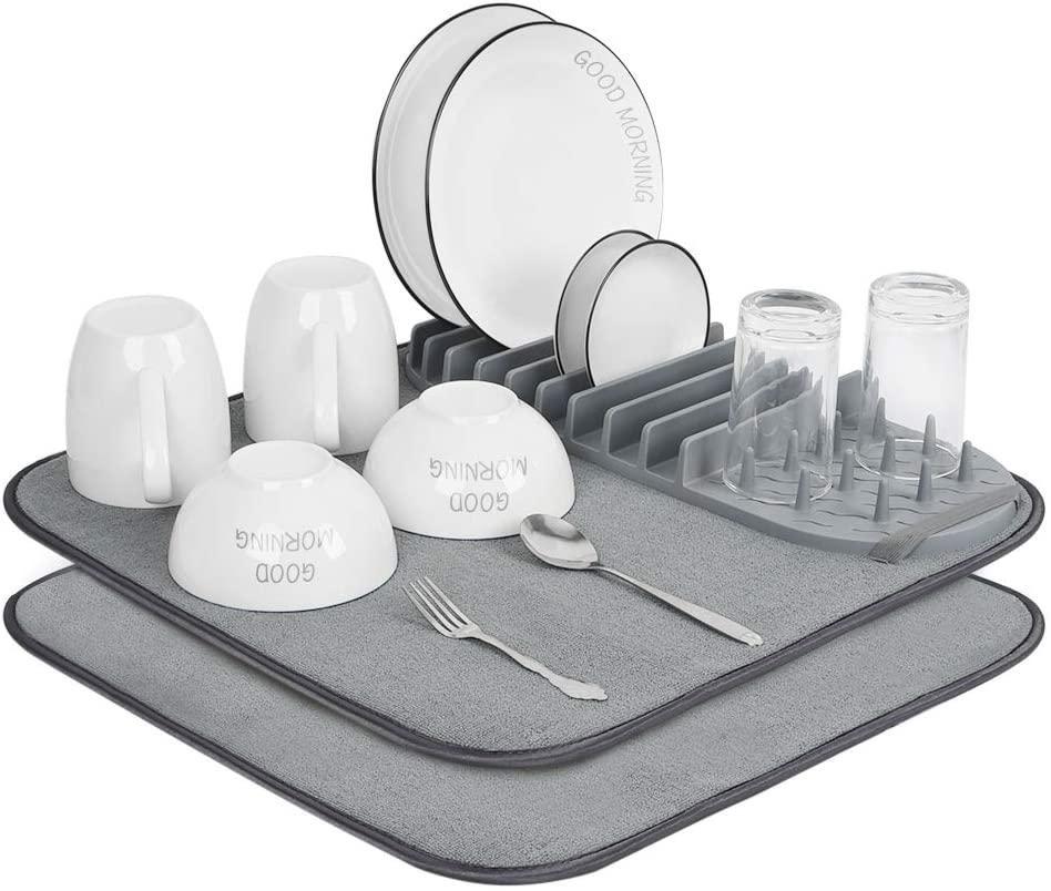 Dish Drying Rack and Mats - JODNO