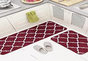Carvapet Moroccan Trellis 2 Pieces Non-slip rug